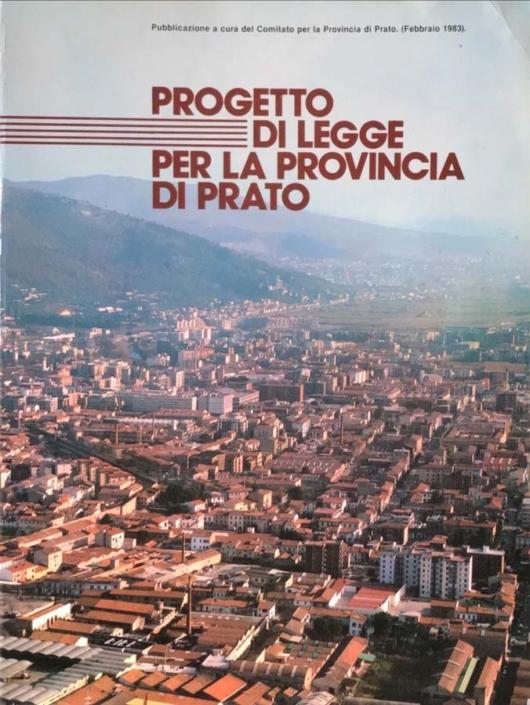 Progetto di legge per la provincia di Prato